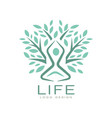 creative flat life logo with abstract human vector image vector image