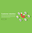customer attraction concept banner isometric vector image