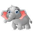 cute happy elephant cartoon vector image vector image