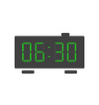 digital alarm clock icon with green lcd numbers vector image