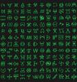 digital green matrix and computer code symbols vector image vector image