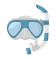 diving mask and snorkel sea vector image