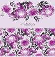 elegant chrysanthemum seamless banner vector image vector image