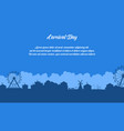 flat of amusement park scenery silhouette vector image vector image