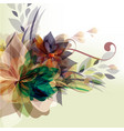 floral template with colorful florals vector image vector image