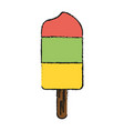 fruit flavors ice popsicle vector image vector image
