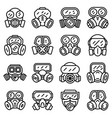 gas mask icons set outline style vector image vector image