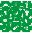 golf sport simple white and green seamless pattern vector image