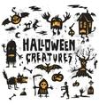 Halloween Creatures Set vector image vector image