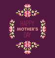 Happy Mothers Day Hand-drawn Greeting Card with vector image vector image