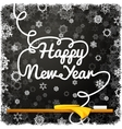Happy New Year message written on the black school vector image