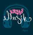 headphone urban musik hand drawing grunge vector image