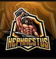 hephaestus esport mascot logo design vector image