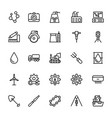 industrial line icons 4 vector image