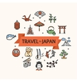 Japan Concept Travel vector image vector image
