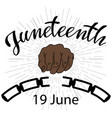 juneteenth independence day vector image