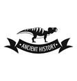 Jurassic dino logo simple black style