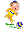 kid playing with ball vector image