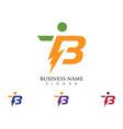 lightning logo template icon design vector image vector image