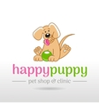 linear of funny cute happy vector image vector image