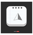 map pointer icon gray icon on notepad style vector image