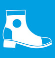 men boot icon white vector image vector image