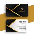 Modern golden business card design