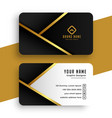 modern golden business card design vector image vector image