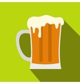 Mug of beer icon flat style vector image