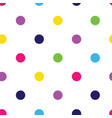 multi-coloured polka dots seamless pattern vector image
