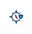 navigation security logo icon design vector image vector image