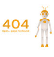 page not found error 404 broken robot for your vector image