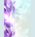 pale purple light background with abstract leaf