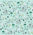 pattern with berries and flowers vector image vector image