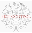 Pest control linear set vector image vector image
