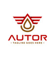 petroleum logo with letter vector image