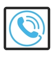 Phone Call Framed Icon vector image vector image