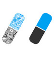 pill composition of repair tools vector image