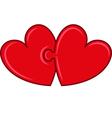 puzzle hearts vector image vector image