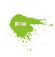 raw fresh vegan eco bio organic green design vector image vector image