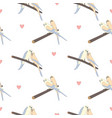 seamless hand drawn pattern with beautiful couple vector image