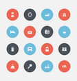 set of 16 editable plaza icons includes symbols vector image vector image