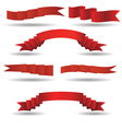 set of red banners vector image vector image
