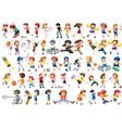 set sport kids character vector image vector image