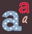 set stitched font - letter a vector image vector image