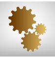 Settings sign Flat style icon vector image