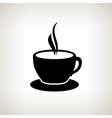 Silhouette cup of tea cup of coffee vector image vector image