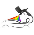 spray gun painting auto service business vector image