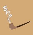 tobacco pipe vector image vector image