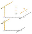 tower crane with adjustable boom length and tower vector image vector image